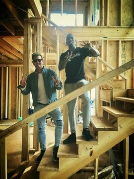 Jay with Senior Asset Manager Daniel Tucker on site at one of Jay's projects.
