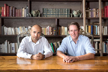 Co-founders Nick Bhargava (left) and Brian Dally