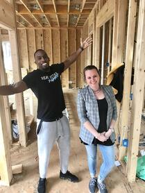 Jay with Asset Manager Brianne Cunnion on site at one of Jay's projects.