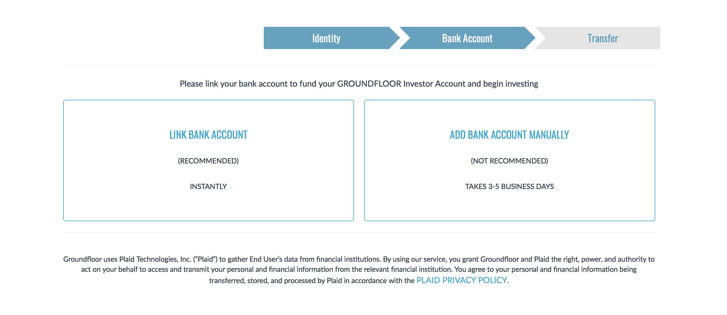 Linking A Bank Account - Step 3