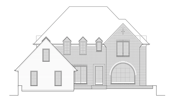 A sketch of the planned front view of 2951 Westminster Circle.