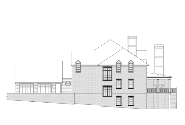 A sketch of the planned side view of 2951 Westminster Circle.