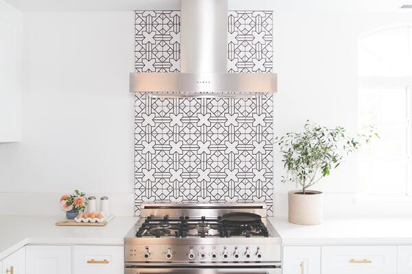 Try adding a colorful or fun backsplash to the kitchen of your next home renovation project.