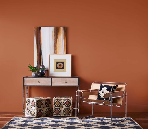 Try incorporating a few touches of rich colors, like Sherwin-Williams' 2019 Color of the Year, into your next home renovation project.