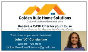Golden Rule Home Solutions business card